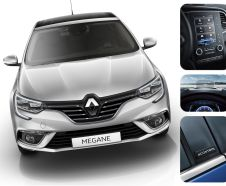 illustration photomontage Renault Mégane équipement high-tech