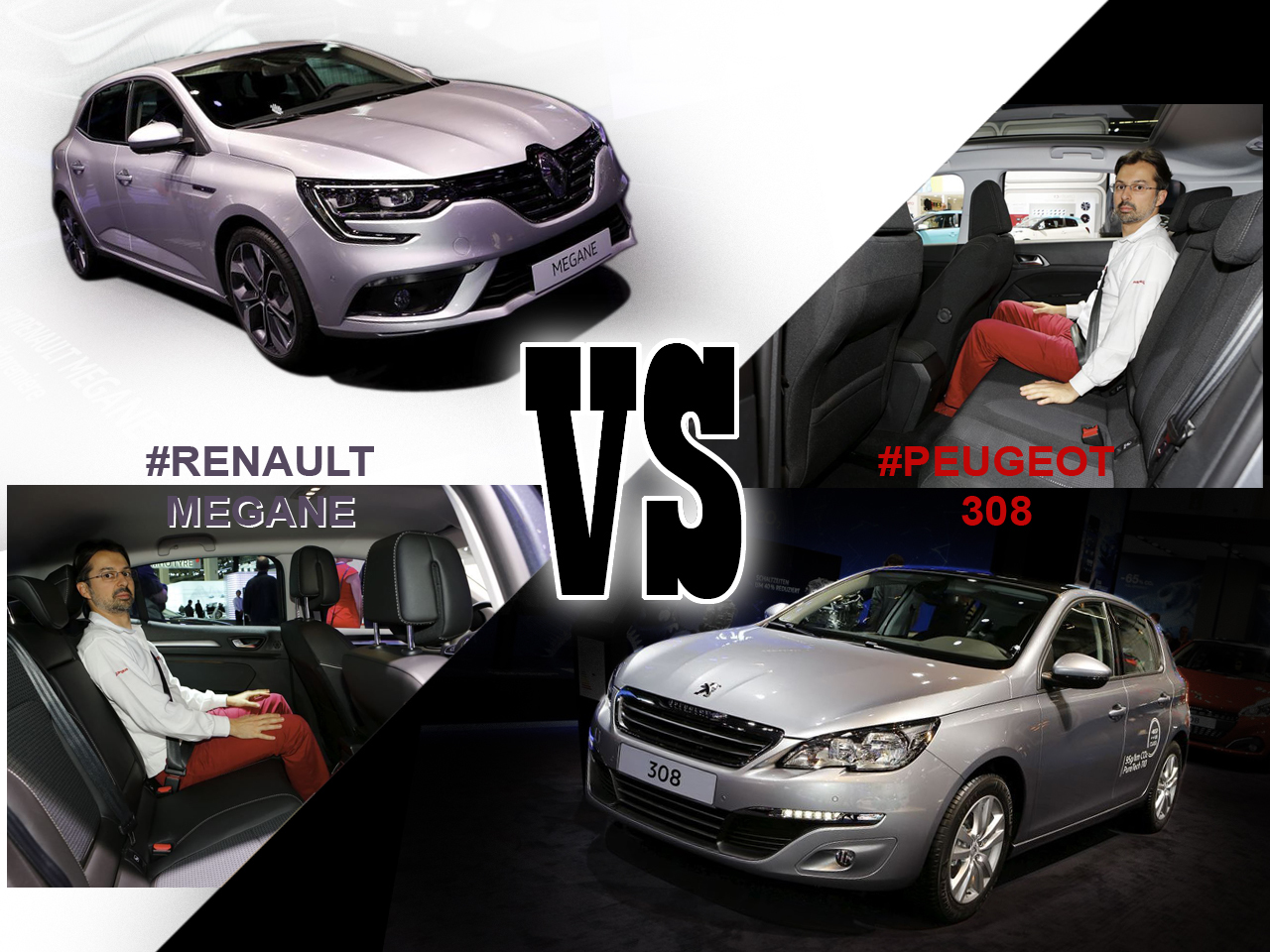 renault m gane 2016 vs peugeot 308 le match depuis francfort l 39 argus. Black Bedroom Furniture Sets. Home Design Ideas