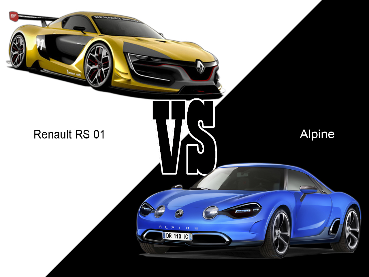 renault rs 01 vs alpine 2016 le match de l 39 image l 39 argus. Black Bedroom Furniture Sets. Home Design Ideas