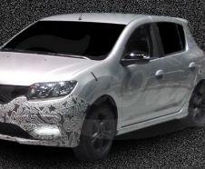 La Renault Sandero RS appara�t pour la premi�re fois sous nos yeux.
