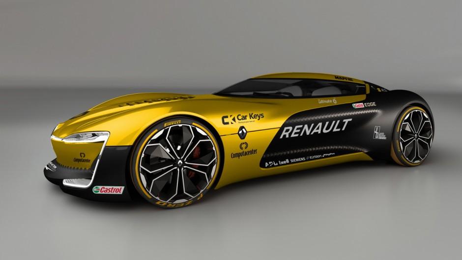 Des Voitures Aux Couleurs Des Nouvelles F1 De 2017 Le Concept Car Renault Tr Zor Aux Couleurs