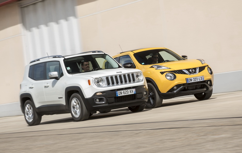 essai comparatif jeep renegade vs nissan juke les fortes. Black Bedroom Furniture Sets. Home Design Ideas