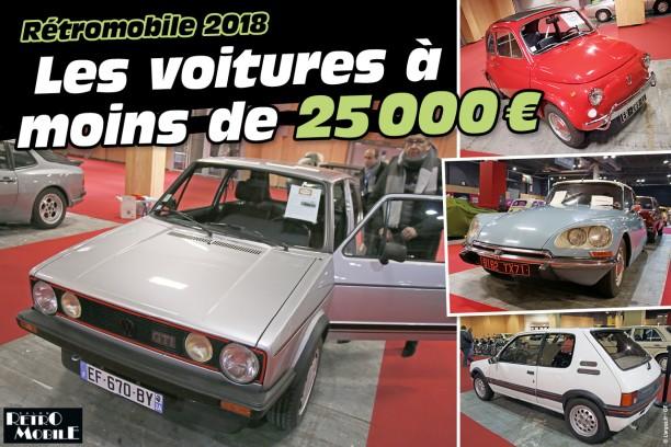 r tromobile 2018 offrez vous une voiture pour moins de 25 000 euros l 39 argus. Black Bedroom Furniture Sets. Home Design Ideas