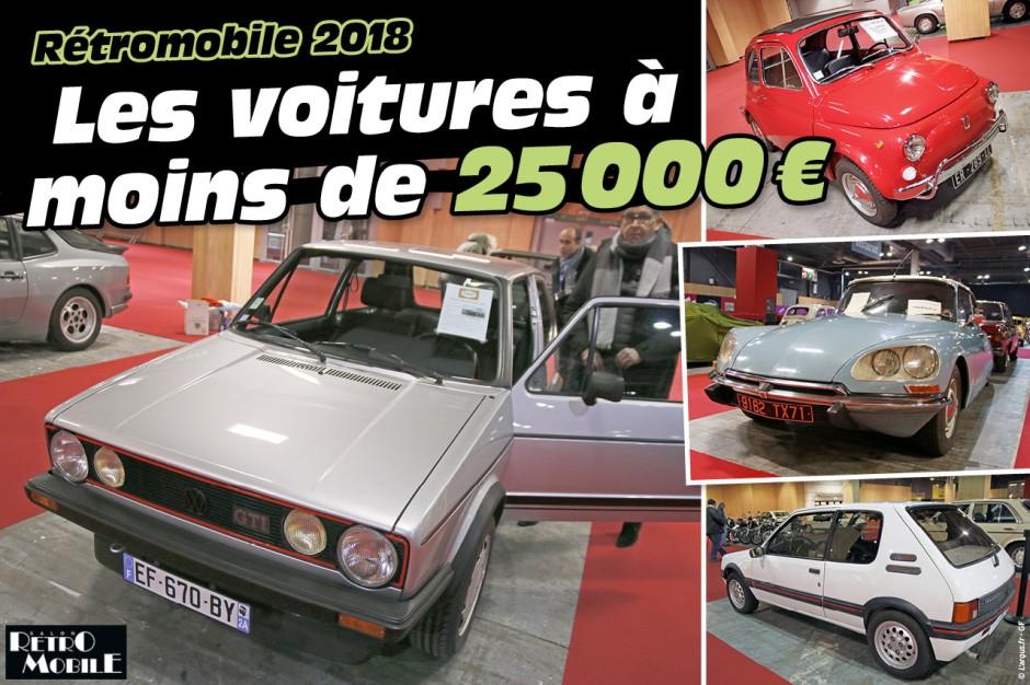 r tromobile 2018 offrez vous une voiture pour moins de 25 000 euros photo 1 l 39 argus. Black Bedroom Furniture Sets. Home Design Ideas