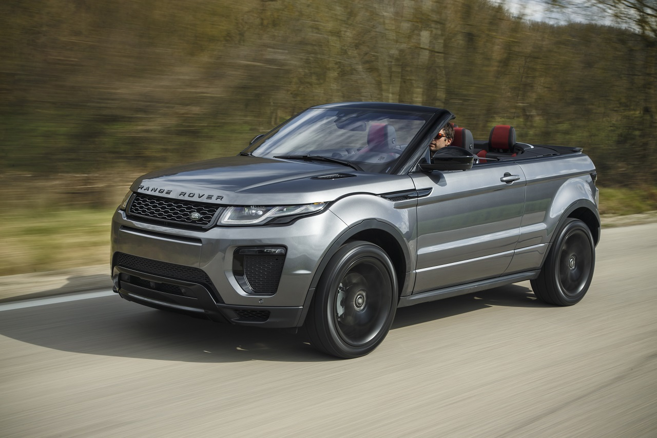essai en images du land rover evoque cabriolet land. Black Bedroom Furniture Sets. Home Design Ideas