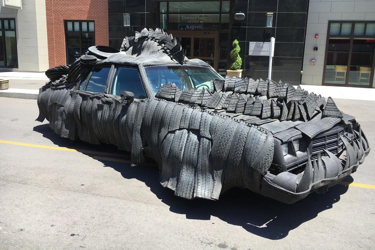 Tuning une voiture reptile faite de pneus photo 1 l - Voiture tuning images ...