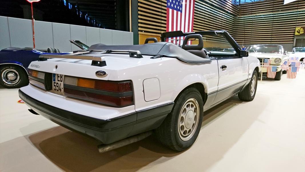 les insolites du salon automobile de lyon 2017 ford mustang gt cabriolet 1985 l 39 argus. Black Bedroom Furniture Sets. Home Design Ideas