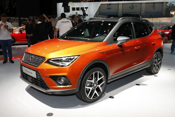 Seat Ateca vue avant orange