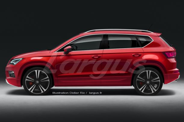 seat ateca cupra le suv compact de 300 ch est bient t pr t l 39 argus. Black Bedroom Furniture Sets. Home Design Ideas
