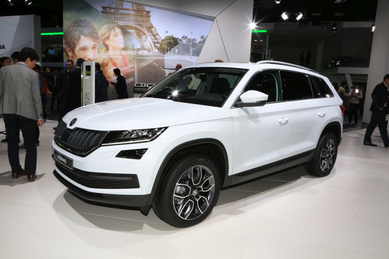 les premi res mondiales au salon de l 39 automobile de paris 2016 skoda kodiaq l 39 argus. Black Bedroom Furniture Sets. Home Design Ideas