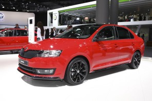 Skoda Rapid Monte Carlo rouge salon de Francfort