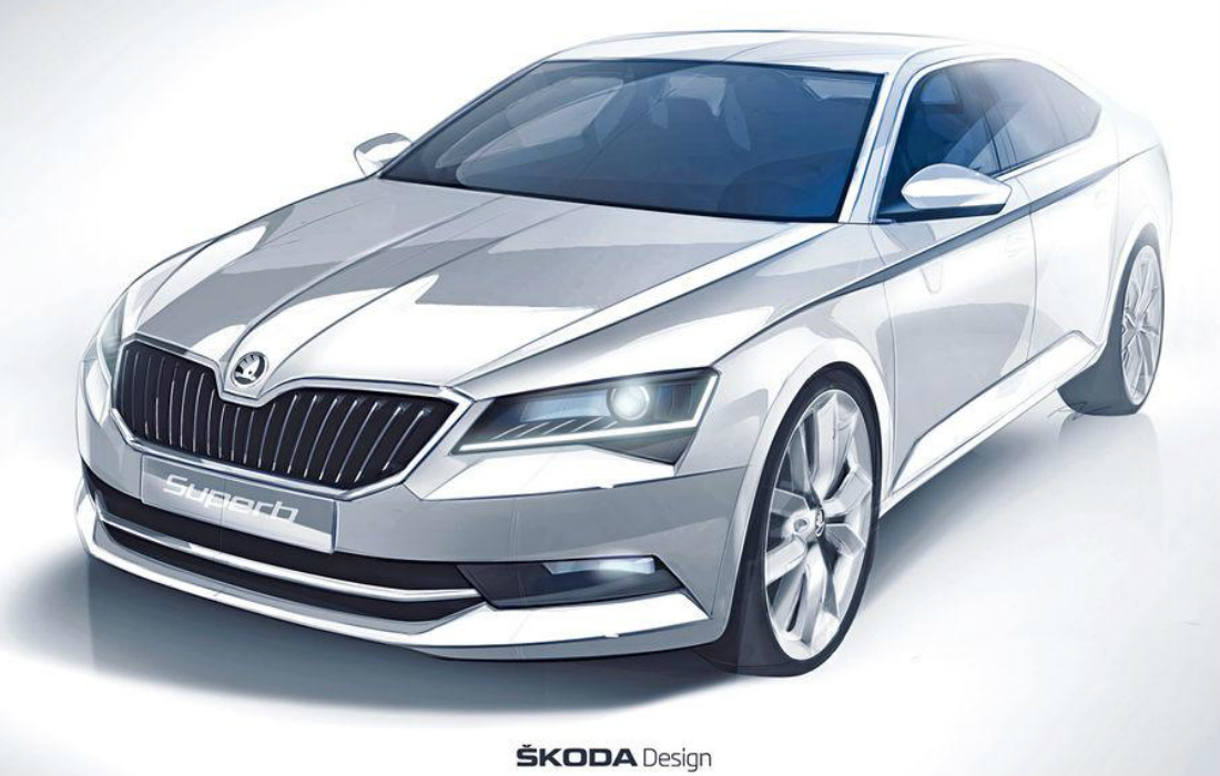la nouvelle skoda superb 2015 se d voile l 39 argus. Black Bedroom Furniture Sets. Home Design Ideas