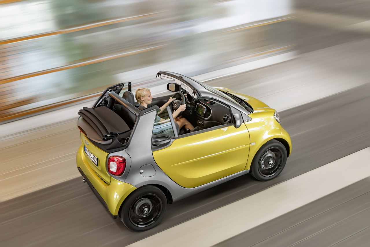 nouvelle smart fortwo cabrio 2015 premi res photos officielles l 39 argus. Black Bedroom Furniture Sets. Home Design Ideas