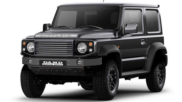le suzuki jimny devient land rover defender ou mercedes classe g l 39 argus. Black Bedroom Furniture Sets. Home Design Ideas