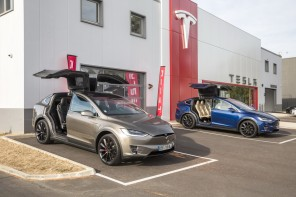 Tesla Model  X portes ouvertes concession