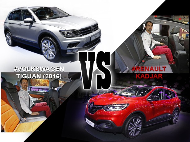 volkswagen tiguan 2016 vs renault kadjar le match depuis francfort l 39 argus. Black Bedroom Furniture Sets. Home Design Ideas