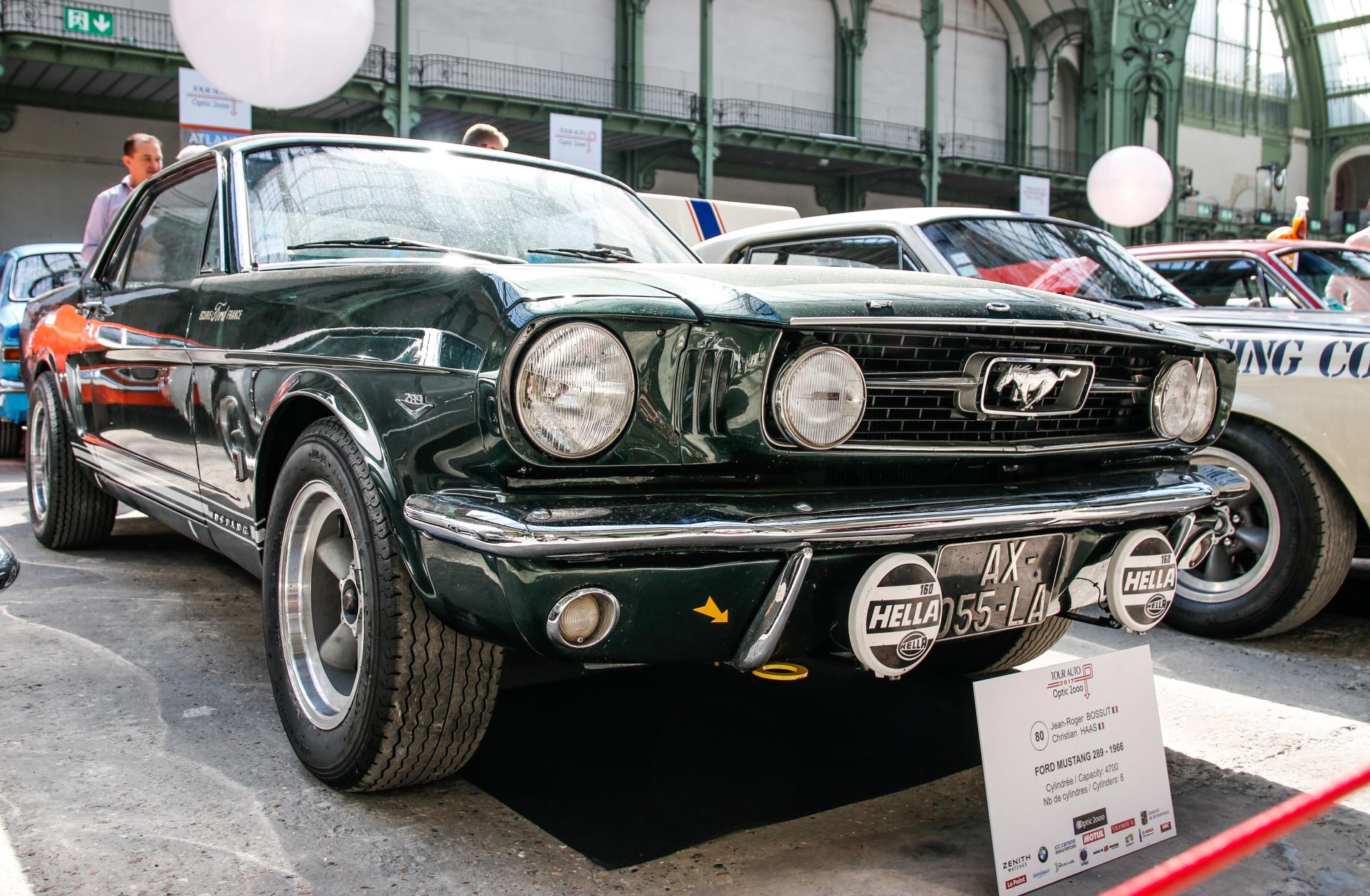tour auto 2017 les plus belles voitures engag es ford mustang 289 1966 l 39 argus. Black Bedroom Furniture Sets. Home Design Ideas