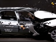 Crash-test : Toyota Corolla (1998) vs Toyota Auris (2015)