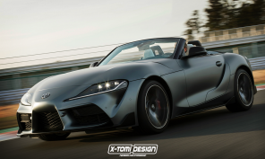 toyota supra roadster photomontage