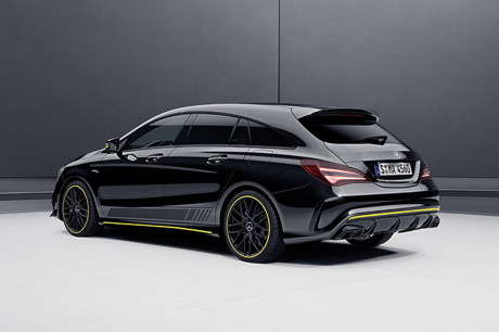 mercedes a 45 amg et cla 45 amg s rie sp ciale yellow night edition l 39 argus. Black Bedroom Furniture Sets. Home Design Ideas