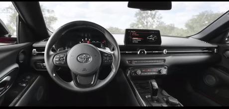 Toyota Supra 2019 dashboard