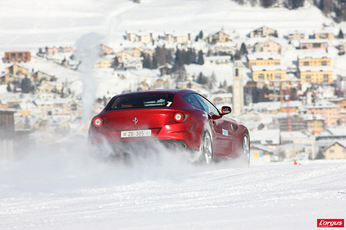 Ferrari FF Ferrari on ice, extr�me sensation