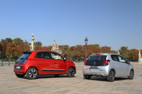 essai comparatif renault twingo sce 70 vs peugeot 108 1. Black Bedroom Furniture Sets. Home Design Ideas