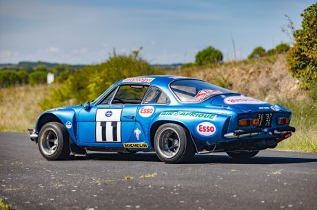 """Alpine A110 (1973).  A """"manufacturing facility"""" rally automobile on the market"""