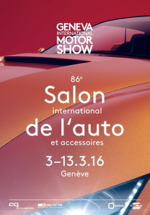 affiche officielle salon auto de geneve 2016