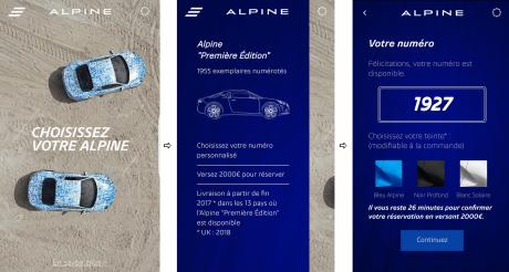 Réservations ouvertes pour l'Alpine Première Edition
