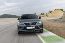 Cupra Ateca travels from the front