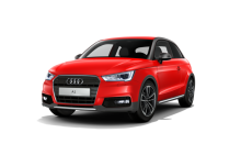 Audi A1 Active 2015 front view red and gray