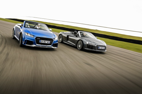 bilan du match audi r8 spyder vs tt rs roadster l 39 argus. Black Bedroom Furniture Sets. Home Design Ideas