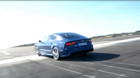 vid o plus de 300 km h en audi rs 7 performance l 39 argus. Black Bedroom Furniture Sets. Home Design Ideas