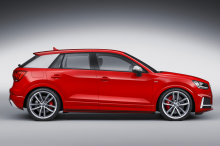 illustration Audi SQ2 vue de profil rouge