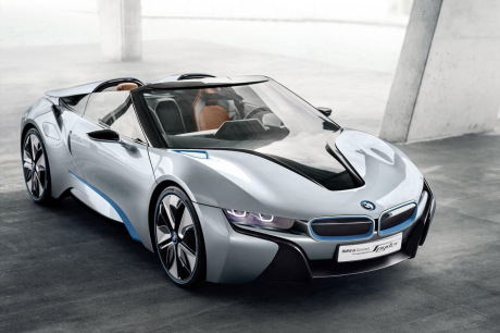 bmw une i8 roadster une mini lectrique et un x3. Black Bedroom Furniture Sets. Home Design Ideas