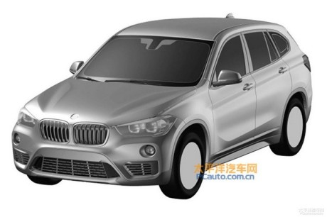bmw x1 2016 le brevet de la version 7 places a fuit en chine l 39 argus. Black Bedroom Furniture Sets. Home Design Ideas
