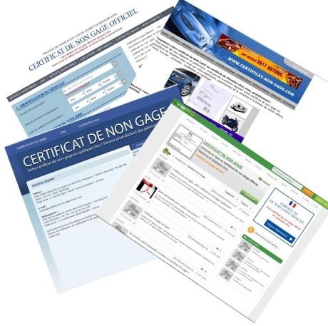 Certificat De Non Gage Attention Aux Sites Qui Vendent Du