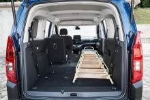 Citroën Berlingo XL vue du coffre ouvert