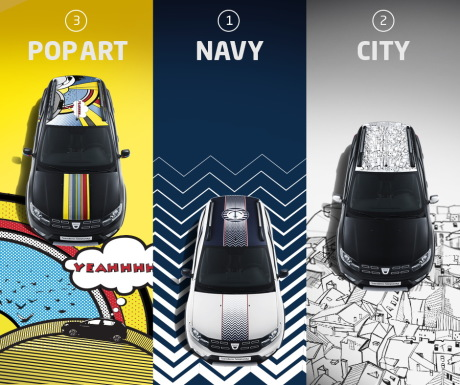 Dacia Sandero Pop Art Navy et City
