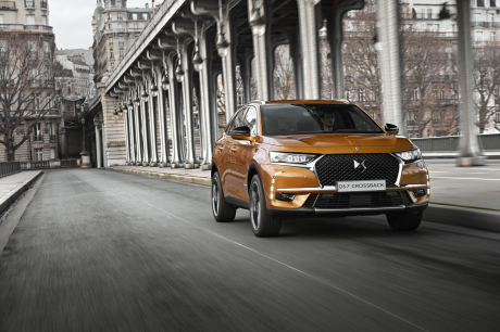 DS7 Crossback vue avant couleur orange