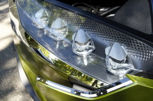DS E-Tense Concept vue phare led diamant