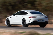 Mercedes-AMG GT 63 S Coupe 4 doors white rear left