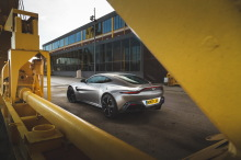 Aston Martin Vantage gray left rear left