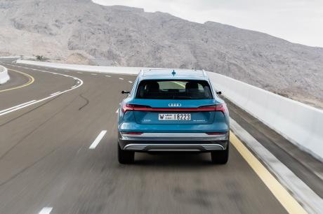 """Audi e-tron antigua blue travellin rear â € """"â €"""" â € """"â €"""" â € """""""
