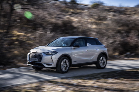 DS3 Crossback E-Tense The first gray action left front