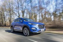 Hyundai Tucson bleu travelling avant