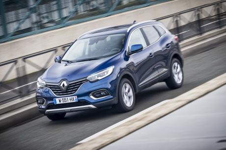 Renault Kadjar blue 2019 wave action front left
