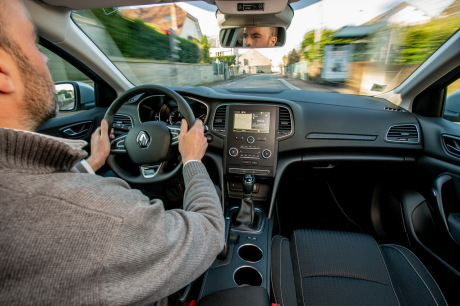 Renault Megane Zen gray view on board