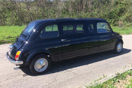 une fiat 500 limousine vendre aux ench res l 39 argus. Black Bedroom Furniture Sets. Home Design Ideas